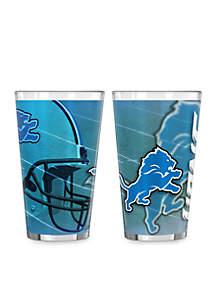 Boelter 16-oz. NFL Detroit Lions 2-pack Shadow Sublimated Pint Glass Set