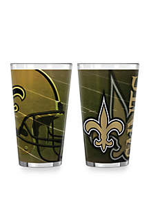 16-oz. NFL New Orleans Saints 2-pack Shadow Sublimated Pint Glass Set