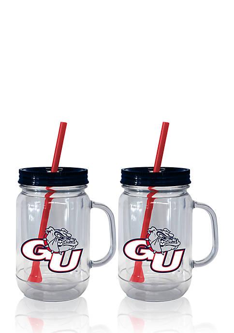 Boelter 20-oz. NCAA Gonzaga Bulldogs 2-pack Straw Tumbler