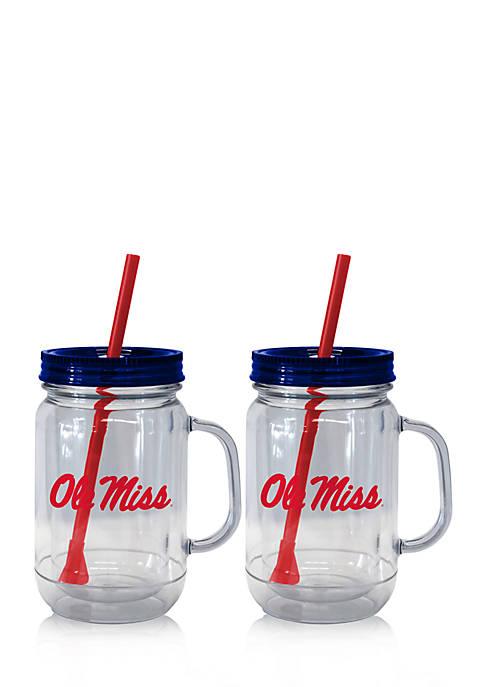 20-oz. NCAA Ole Miss Rebels 2-pack Straw Tumbler with Handle