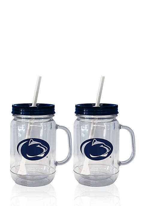 20-oz. NCAA Penn State Nittany Loins 2-pack Straw Tumbler with Handle