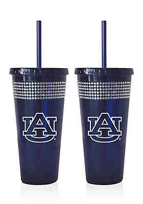 15325af189 NCAA Auburn Tigers 2-Pack Bling Tumbler with Straw