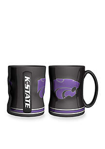 14-oz. NCAA Kansas State Wildcats 2-pack Relief Sculpted Coffee Mug Set