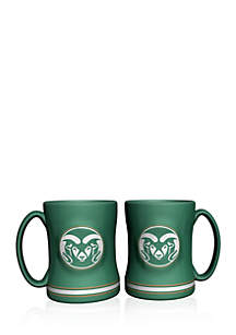 14-oz. NCAA Colorado State Rams 2-pack Relief Sculpted Coffee Mug Set