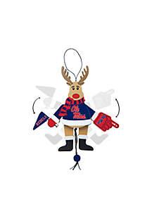 Ole Miss Rebels Reindeer Ornament