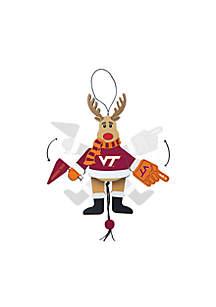 Virginia Tech Hokies Reindeer Ornament
