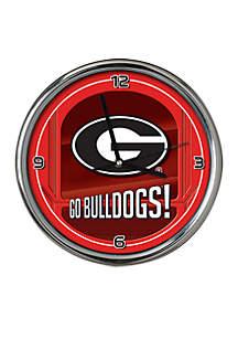 UGA Go Team Chrome Clock