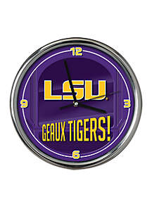 LSU Go Team Chrome Clock