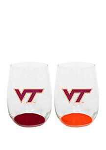 Tennessee Volunteers Stemless Wine Glasses - Set of 2