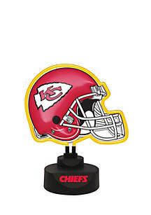 NFL Kansas City Chiefs Neon Helmet Desk Lamp