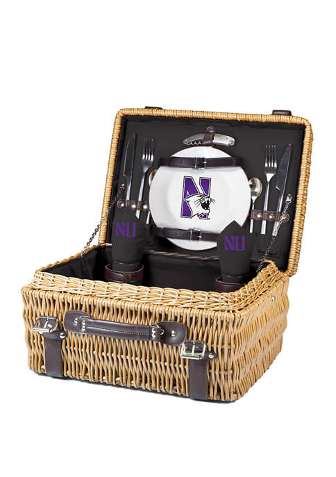 NCAA Northwestern Wildcats Champion Picnic Basket