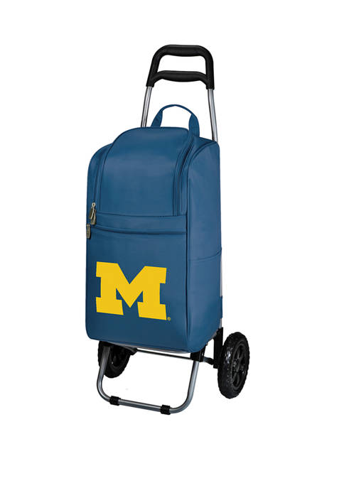 Picnic Time NCAA Michigan Wolverines Rolling Cart Cooler