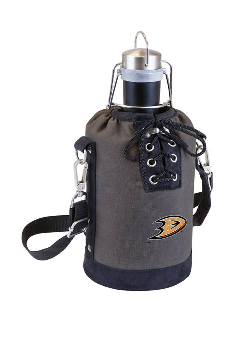 NHL Anaheim Ducks Insulated Growler Tote with 64 Ounce Stainless Steel Growler