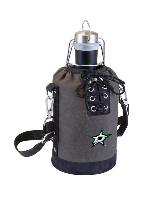 NHL Dallas Stars Insulated Growler Tote with 64 Ounce Stainless Steel Growler