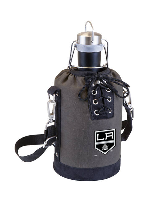 NHL Los Angeles Kings Insulated Growler Tote with 64 Ounce Stainless Steel Growler