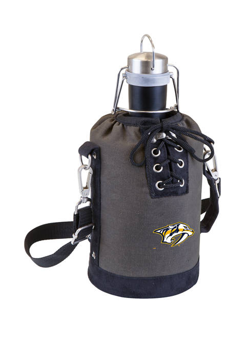 NHL Nashville Predators Insulated Growler Tote with 64 Ounce Stainless Steel Growler
