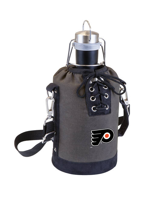 NHL Philadelphia Flyers Insulated Growler Tote with 64 Ounce Stainless Steel Growler
