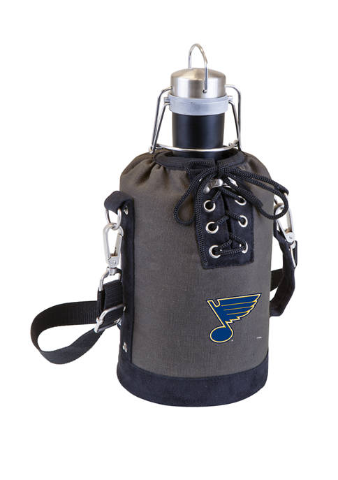 NHL St. Louis Blues Insulated Growler Tote with 64 Ounce Stainless Steel Growler