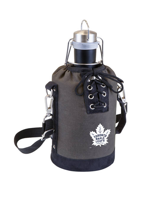 NHL Toronto Maple Leafs Insulated Growler Tote with 64 Ounce Stainless Steel Growler