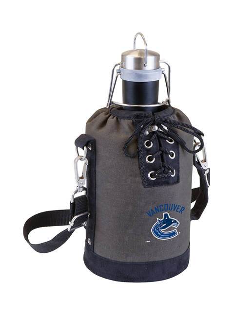 NHL Vancouver Canucks Insulated Growler Tote with 64 Ounce Stainless Steel Growler