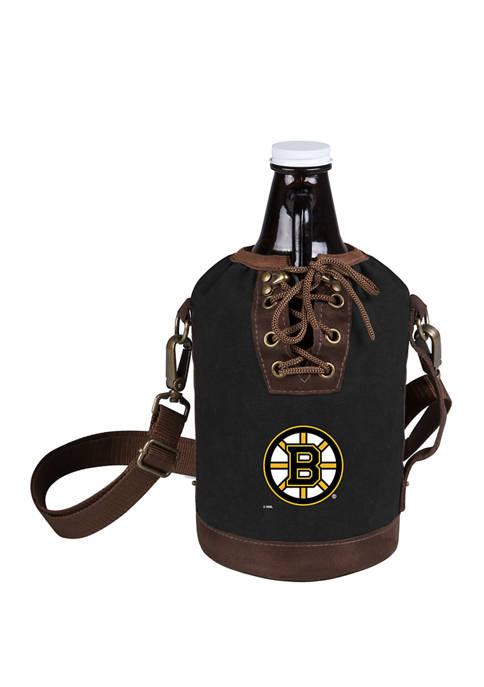 NHL Boston Bruins Insulated Growler Tote with 64 Ounce Glass Growler