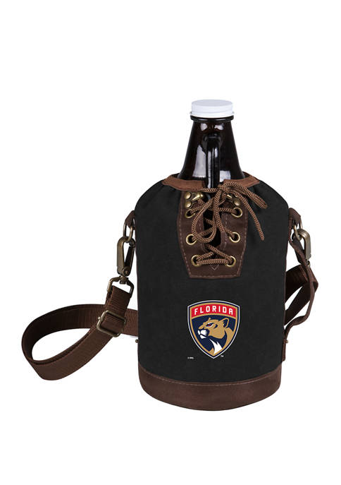 NHL Florida Panthers Insulated Growler Tote with 64 Ounce Glass Growler