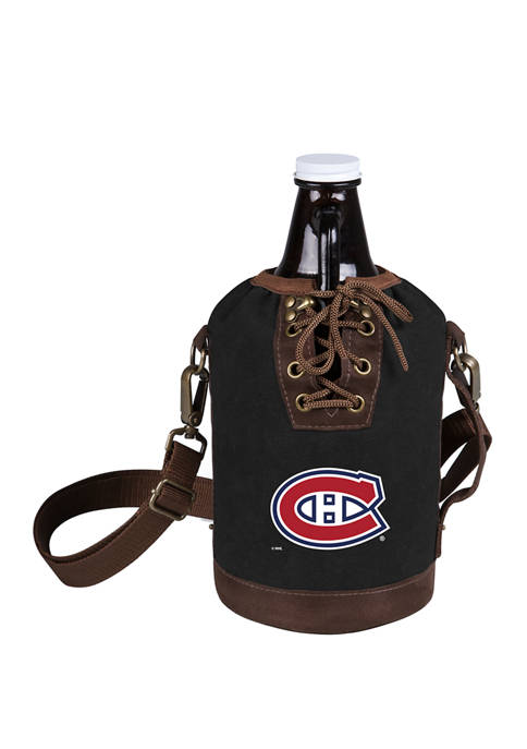 NHL Montreal Canadiens Insulated Growler Tote with 64 Ounce Glass Growler