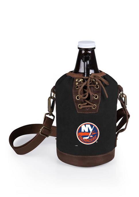 NHL New York Islanders Insulated Growler Tote with 64 Ounce Glass Growler