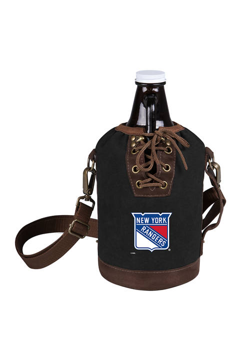 NHL New York Rangers Insulated Growler Tote with 64 Ounce Glass Growler