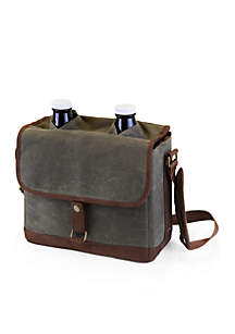 Insulated Double Tote with 64-oz. Glass Growlers