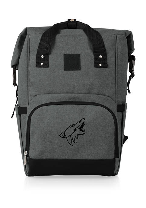 NHL Arizona Coyotes On The Go Roll-Top Cooler Backpack