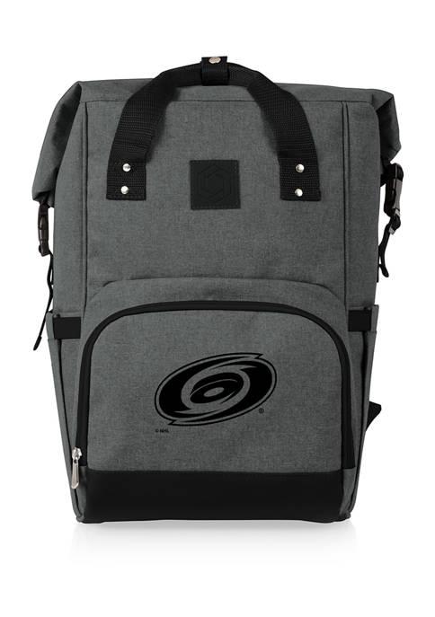 NHL Carolina Hurricanes On The Go Roll-Top Cooler Backpack
