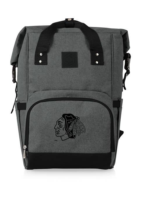 NHL Chicago Blackhawks On The Go Roll-Top Cooler Backpack