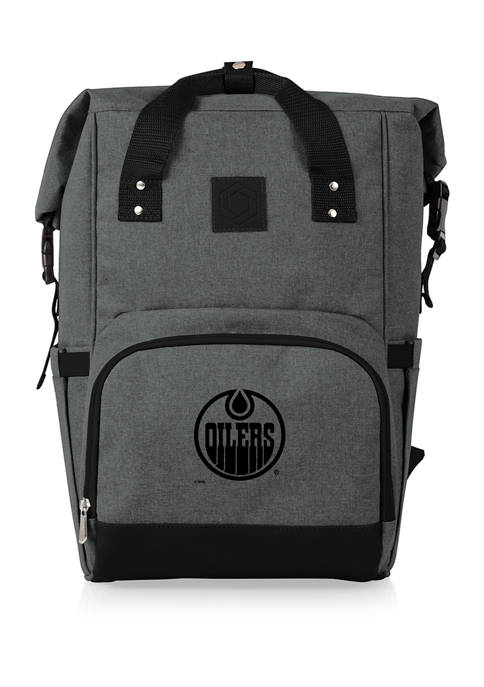 NHL Edmonton Oilers On The Go Roll-Top Cooler Backpack