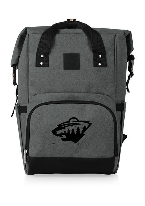 NHL Minnesota Wild On The Go Roll-Top Cooler Backpack