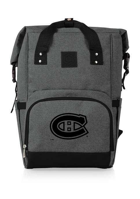 NHL Montreal Canadiens On The Go Roll-Top Cooler Backpack