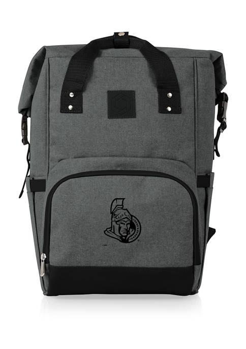 NHL Ottawa Senators On The Go Roll-Top Cooler Backpack