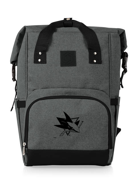 NHL San Jose Sharks On The Go Roll-Top Cooler Backpack