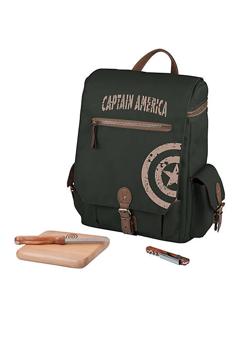 Picnic Time Captain America Moreno 3-Bottle Wine and