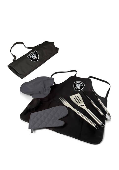 NFL Oakland Raiders BBQ Apron Tote Pro Grill Set