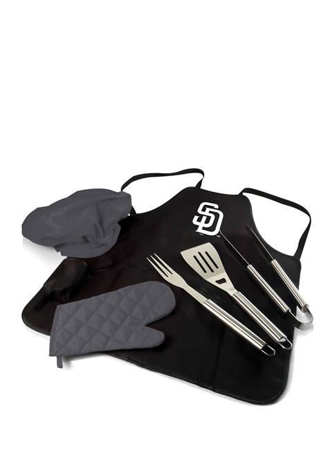 MLB San Diego Padres BBQ Apron Tote Pro Grill Set