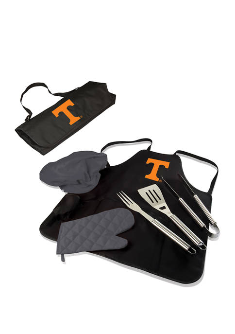 NCAA Tennessee Volunteers BBQ Apron Tote Pro Grill Set