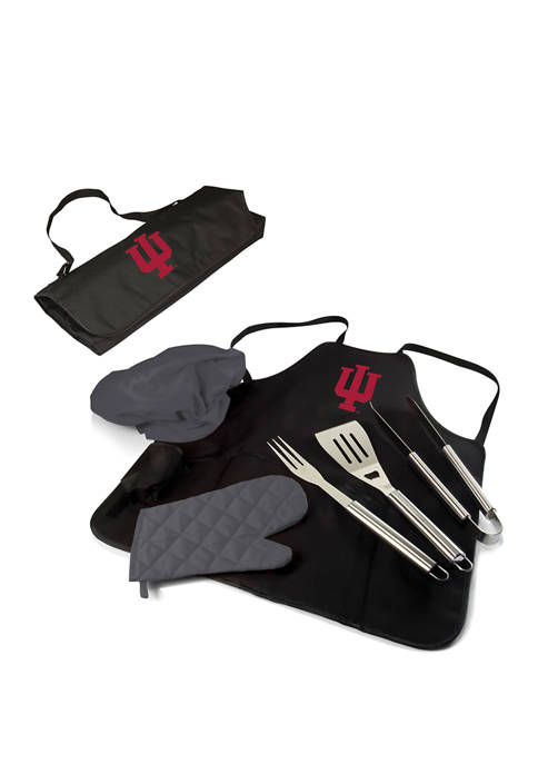 NCAA Indiana Hoosiers BBQ Apron Tote Pro Grill Set