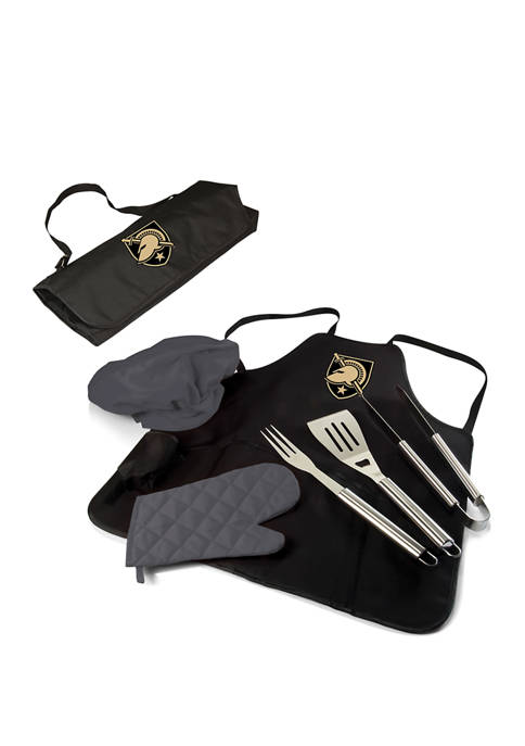 NCAA West Point Black Knights BBQ Apron Tote Pro Grill Set