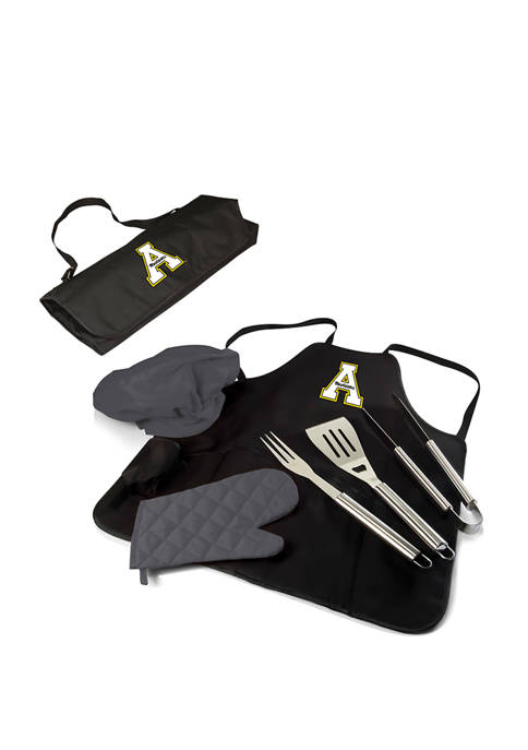 NCAA App State Mountaineers BBQ Apron Tote Pro Grill Set