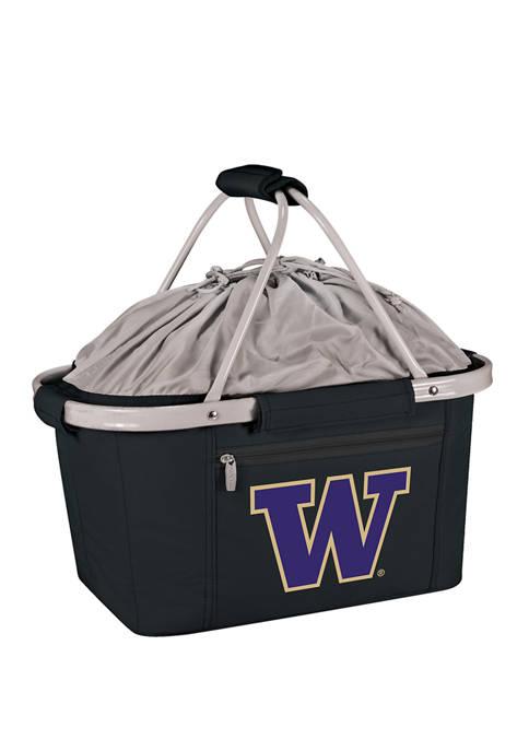 NCAA Washington Huskies Metro Basket Collapsible Cooler Tote
