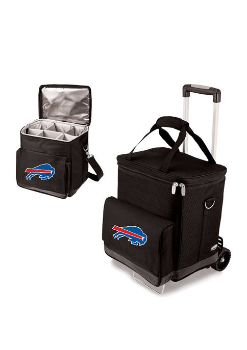 NFL Buffalo Bills Cellar 6-Bottle Wine Carrier & Cooler Tote with Trolley