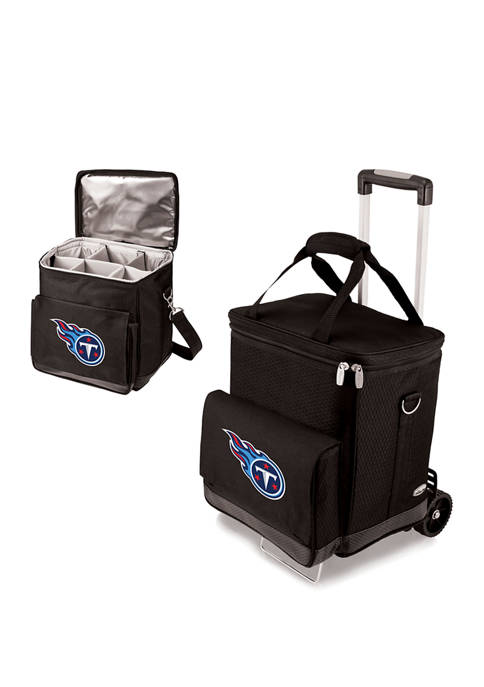 NFL Tennessee Titans Cellar 6-Bottle Wine Carrier & Cooler Tote with Trolley