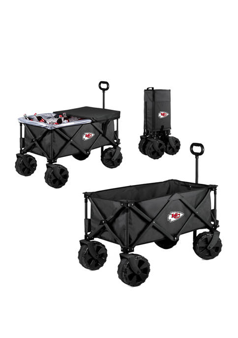 NFL Kansas City Chiefs Adventure Wagon Elite All Terrain Portable Utility Wagon