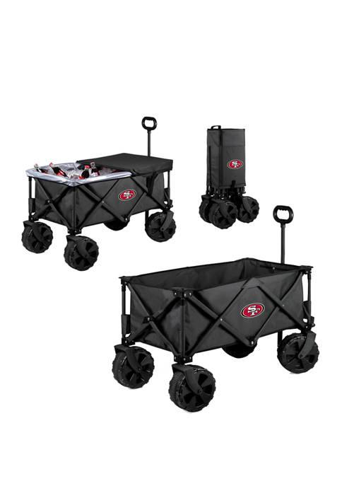 NFL San Francisco 49ers Adventure Wagon Elite All Terrain Portable Utility Wagon
